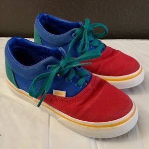 Vans blue red green size 9 toddler used
